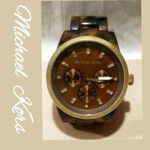 Michael Kors Ritz Chronograph Watch 5038 Tortoise
